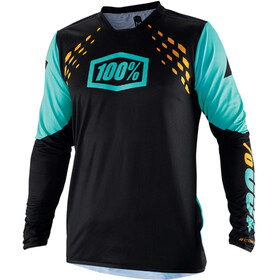 100% R-Core-X DH Maillot manches longues Homme, black/cyan